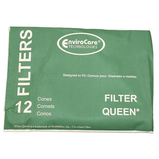 FILTER QUEEN 12PK W/2 DISC FILTER PAPER CONES