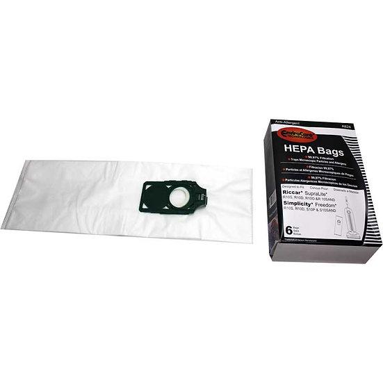 Riccar Superlite HEPA 6Pk Bags R10S, R10D, R10O & R10S