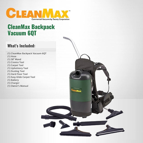 CleanMax Cordless Backpack Vacuum CMBP-6CL