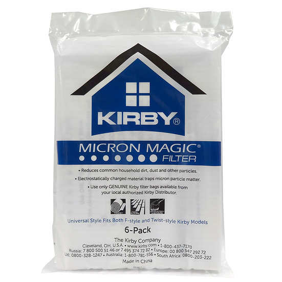 Kirby 6Pk Micron Magic Cloth Bags