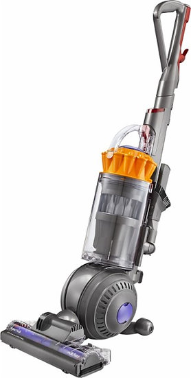 Dyson - Small Ball Multi Floor Bagless Upright Vacuum - Iron/Yellow
