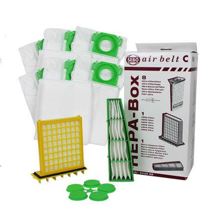 SEBO Airbelt C HEPA Filter and Bag Service Box