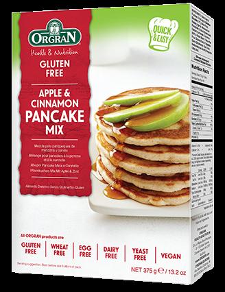 Orgran Apple & Cinnamon Pancake Mix - 375g