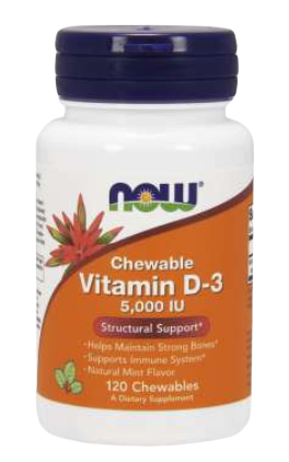 Vitamin D-3 5000 IU Chewables