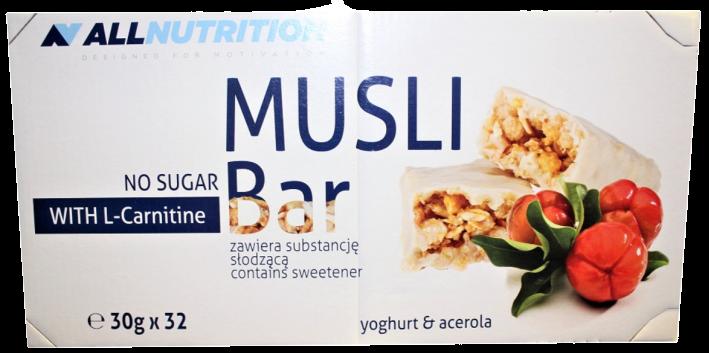 Muesli Bar with L-Carnitine 32 bars