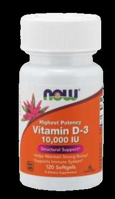 Vitamin D-3 10,000 IU Softgels