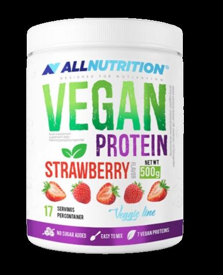 Vegan Protein, Strawberry - 500g
