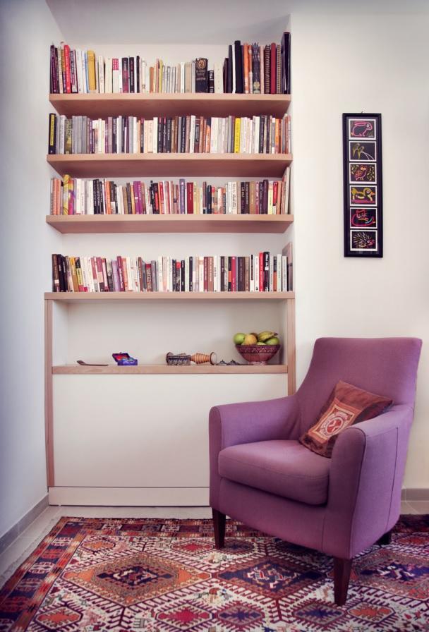 ספריית נישה לסלון