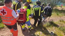 Accidente deportivo en Badajoz.