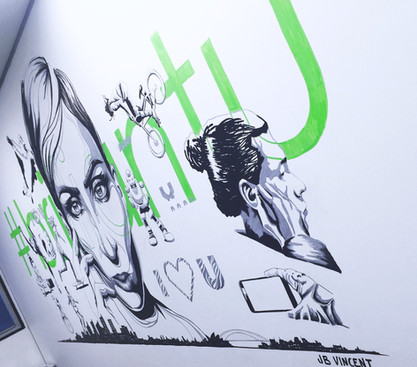 Brillant U campaign | Creative direction and mural artwork