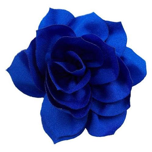 "4"" Royal Blue Satin Lotus Flower Dog Collar Accessory"