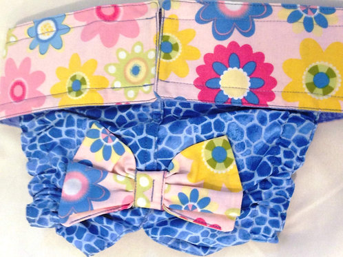 Fancy Pink Wildflower Quick Ship Dog Diapers Starting at $35.