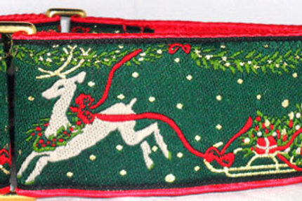 Festive Reindeer Dog Collar starting at $40