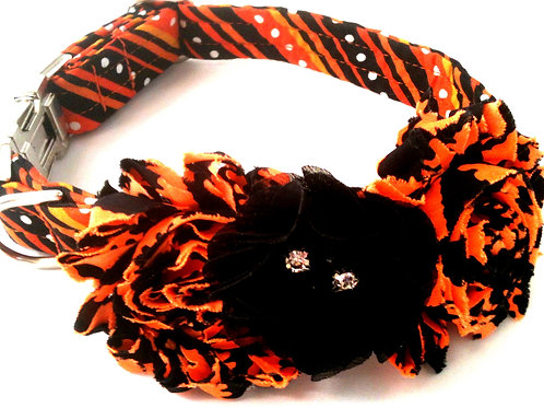 Beetle Juice Halloween Dog Collars starting at $25 (free shabby flower included)