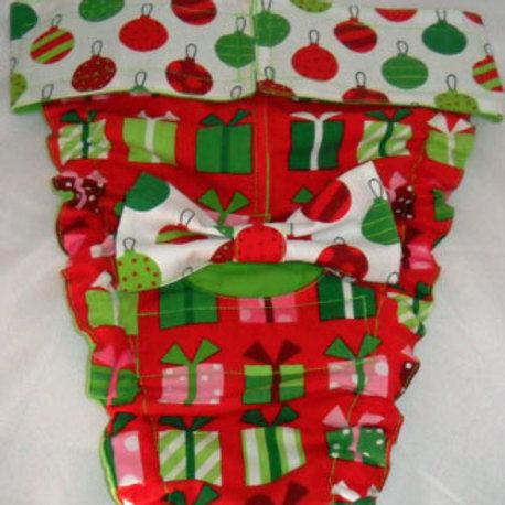 Fancy Christmas Jingle Quick Ship Dog Diapers Panties Brit