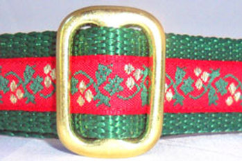 Red Holly Berry Christmas Dog Collar