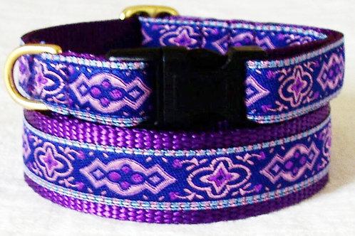 Purple Scroll Dog Collars starting at $25
