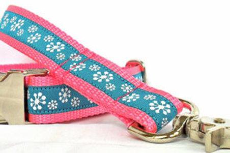 Blue Snowflakes Holiday Dog Collar