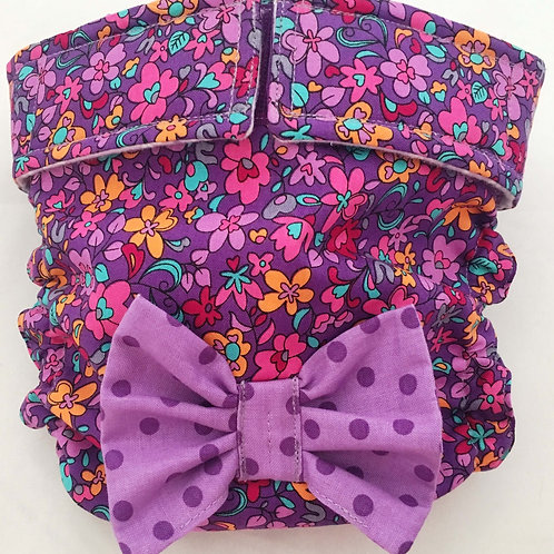 Fancy Purple Garden Quick Ship Dog Diapers Panties Britches $35.50+