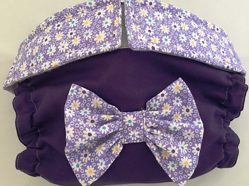 Fancy Purple Daisy with Purple Bottom Quick Ship Dog Diapers$35.50+