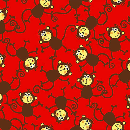 Monkeys on Red Dog Diapers Original Custom Dog Diapers P
