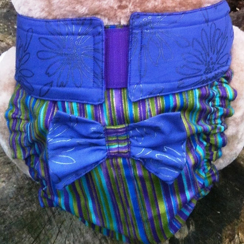Fancy Purple Mirage Quick Ship Dog Diapers Panties Britches $35+