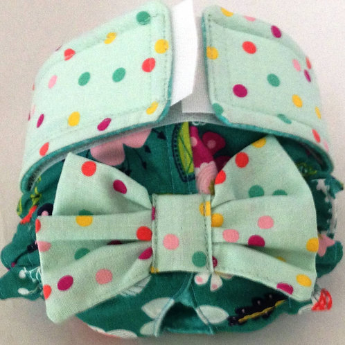 Fancy Enchanted Garden and Dots Custom Dog Diapers Panties Britches