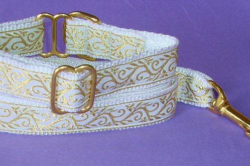 Gold Vine Wedding Dog Collar $25+
