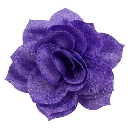 "4"" Purple Satin Lotus Flower Dog Collar Accessory"