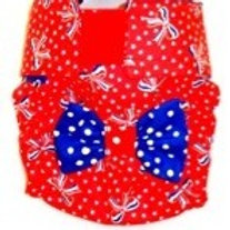 Fancy Patriotic Girl Quick Ship Dog Diapers Panties Britches $35.50+