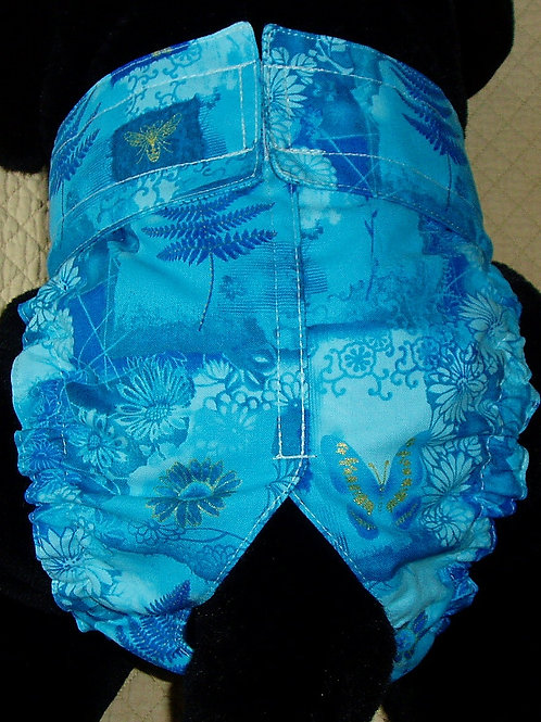 Turquoise Garden Custom Dog Diapers Panties Britches