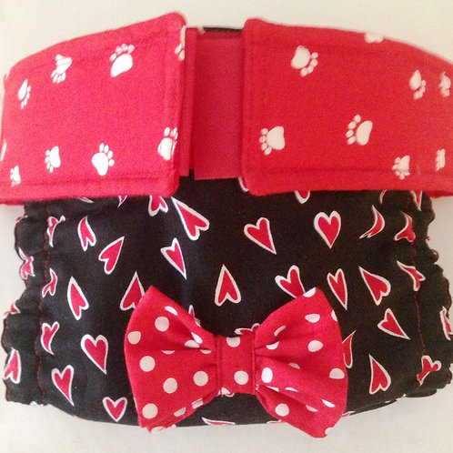 Fancy Hearts Paws & Polka Dots Quick Ship Dog Diapers Panties Britches
