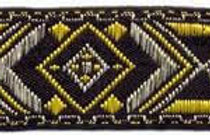 Yellow, Silver, Black Geometric Dog Collar $25