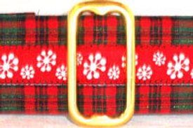 Holiday Plaid and Snowflakes Holiday Dog Collar starting at $25