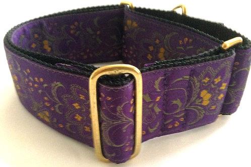 Purple Floral Martingale Dog Collar $35+