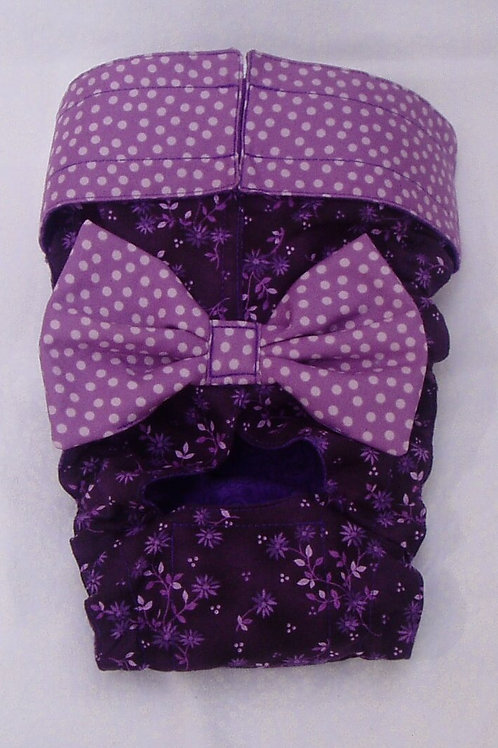 Fancy Purple Passion Quick Ship Dog Diapers Panties Britches