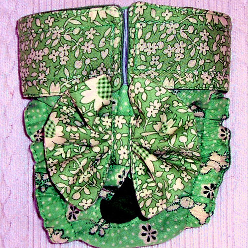 Fancy Bunny Patch Quick Ship Dog Diapers Panties Brit