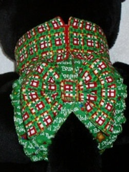 Fancy Christmas Around the World Quick Ship Dog Diaper - Starting at $35.50