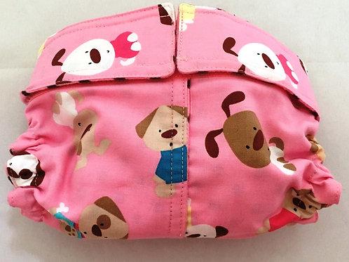 Pink Cartoon Dogs Dog quick ship Diapers Panties Britches $32+