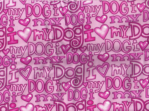 Fancy I Love My Dog Pink Quick Ship Dog Diapers Panties Britches