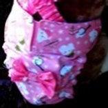 Fancy Winter Wonderland Custom Dog Diaper Panties Britches