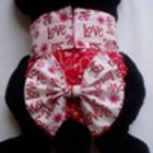 Fancy Love Heart Red Quick Ship Dog Diapers Panties Britches