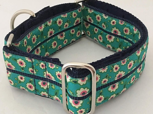 Forget Me Not Turquoise Dog Collar $30+