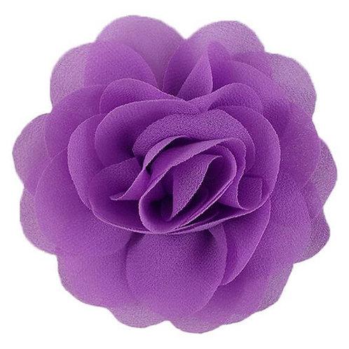 """3"""" Lilac Chiffon Rose Flower Dog Collar Accessory"""