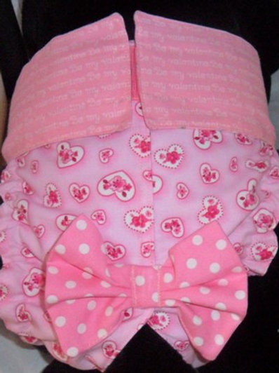 Fancy Love Hearts Quick Ship Dog Diaper Panties Britches