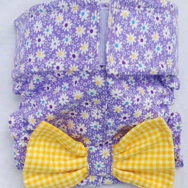 Fancy Purple Bubble Daisy Dog Diapers