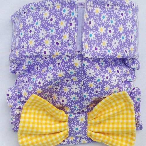 Fancy Purple Bubble Daisy Quick Ship Dog Diaper Panties Britches $35.50+