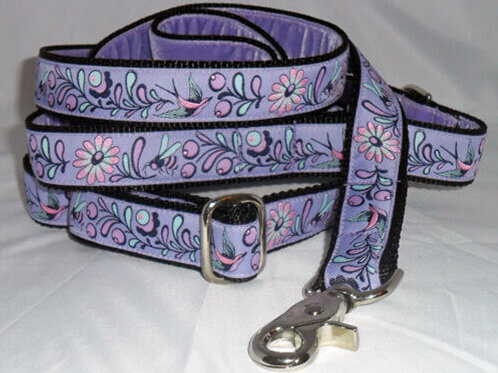 Birds and Bees Purple Dog Collars $25+