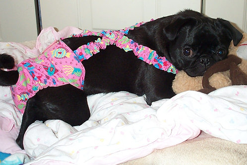 Pink Fish School Dog Diaper Quick Ship Dog Diapers Panties $32+