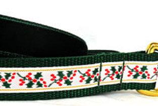 Gilded Holly Christmas Dog Collar